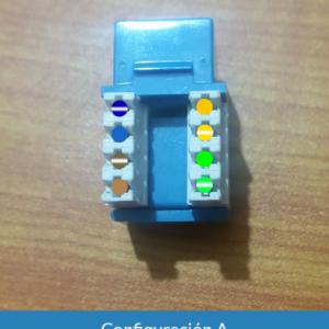 Configuración A conector cat5e hembra